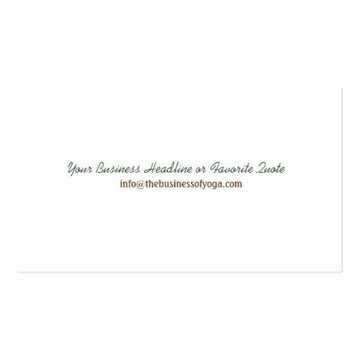 Pilates Gift Certificate Template Elegant Yoga Pilates Meditation Business Instructor Business Card