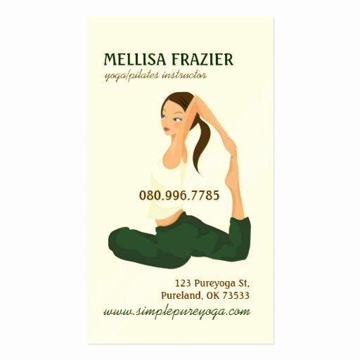 Pilates Gift Certificate Template Lovely Yoga Pilates Meditation Business Instructor Double Sided