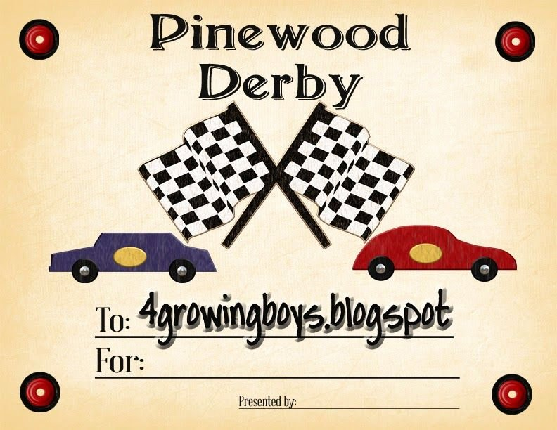 Pinewood Derby Award Certificate Template Best Of Pinewood Derby Certificate Printable