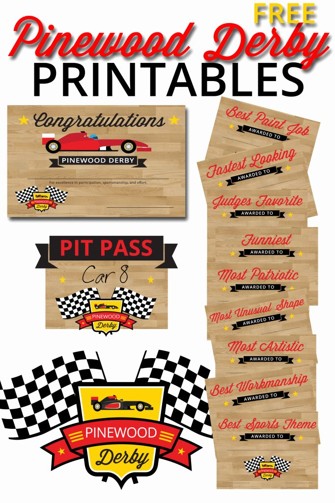 Pinewood Derby Award Certificate Template Inspirational Pinewood Derby Printables – the Gospel Home