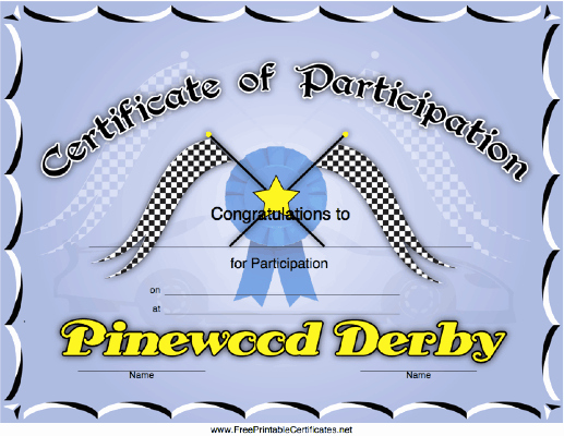Pinewood Derby Award Certificate Template Lovely Adminoaf674 Sandybrownpsychic