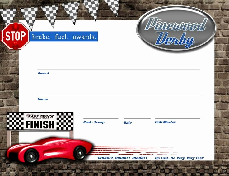 Pinewood Derby Award Certificate Template Unique 17 Best Images About Pinewood Derby On Pinterest