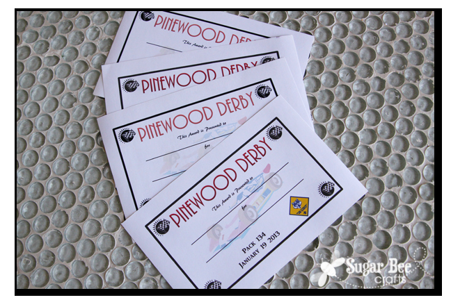 Pinewood Derby Certificate Template Inspirational Diy Pinewood Derby Trophies and Certificates Sugar Bee