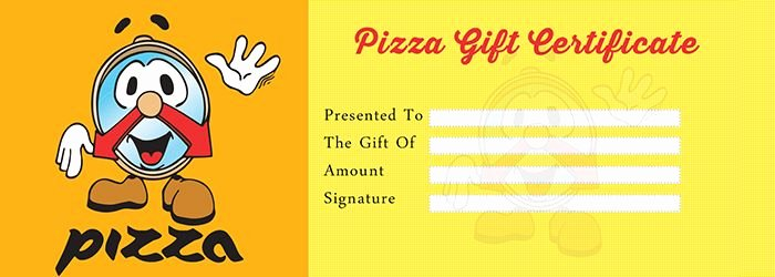 Pizza Gift Certificate Template Awesome Pizza Gift Certificate Template Free Gift Certificate