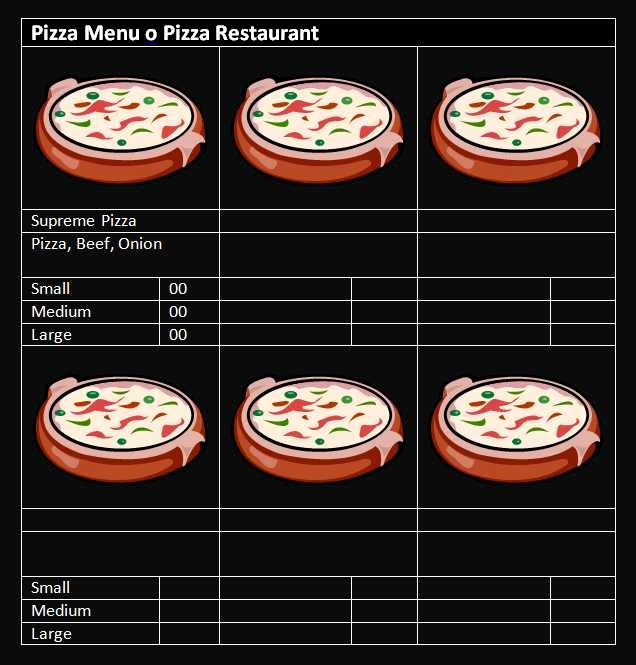 Pizza Gift Certificate Template Best Of 15 Free Restaurant and Cafe Menu Templates for Word