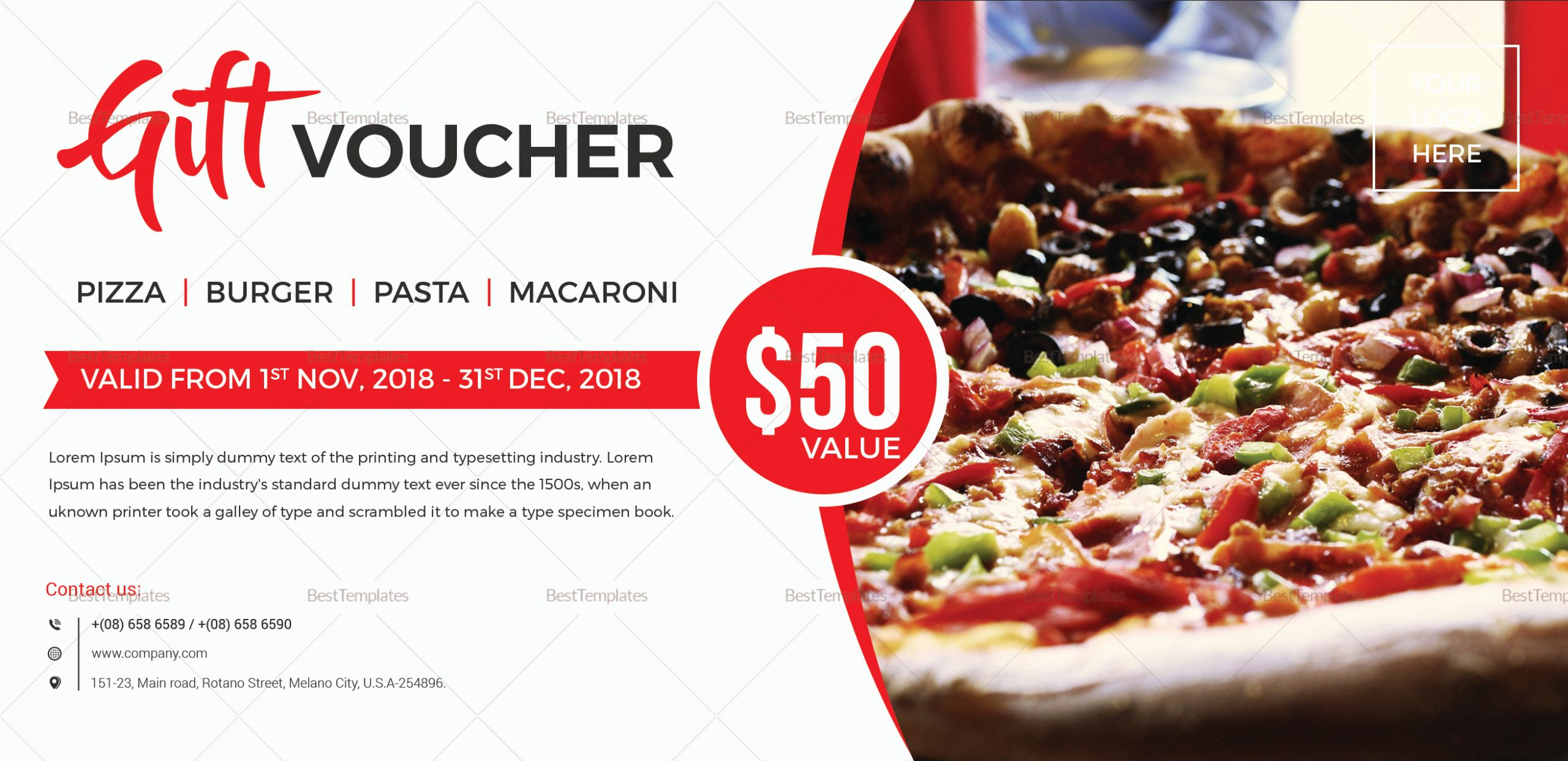 Pizza Gift Certificate Template Best Of Unique Gift Voucher Design Template In Word Psd Pages