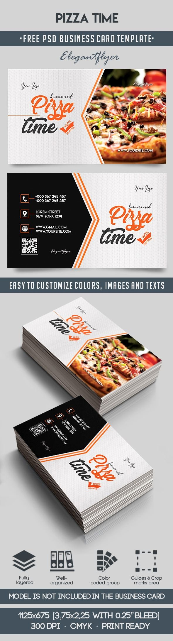 Pizza Gift Certificate Template Elegant Pizza Time – Free Business Card Templates Psd – by