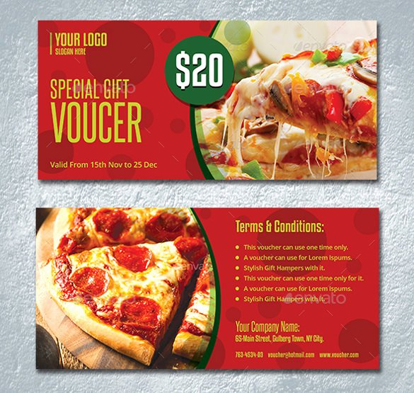 Pizza Gift Certificate Template Fresh 28 Gift Coupon Templates Psd Ai Word