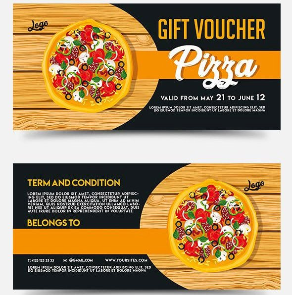 Pizza Gift Certificate Template New Pizza Gift Voucher – Free Psd Template Free Psd Flyer