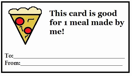 Pizza Gift Certificate Template Unique Early Play Templates Free T Coupon Templates to Print Out