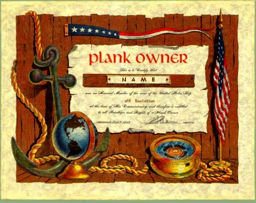 Plank Owner Certificate Template Elegant Plank Owner Certificate Template