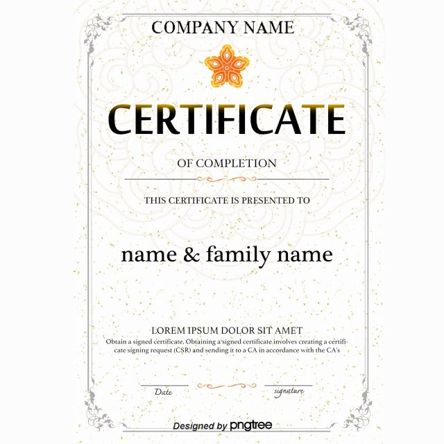 Plank Owner Certificate Template Elegant White European Shading Border Training Certificate