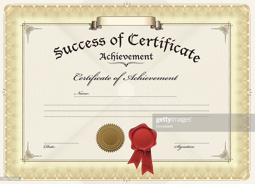 Plank Owner Certificate Template Fresh A Blank Certificate Achievement Vector Art