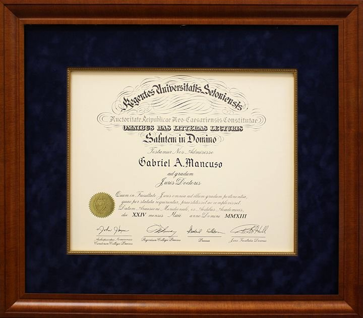 Plank Owner Certificate Template Inspirational Diplomas & Certificates Picture Frame Nj