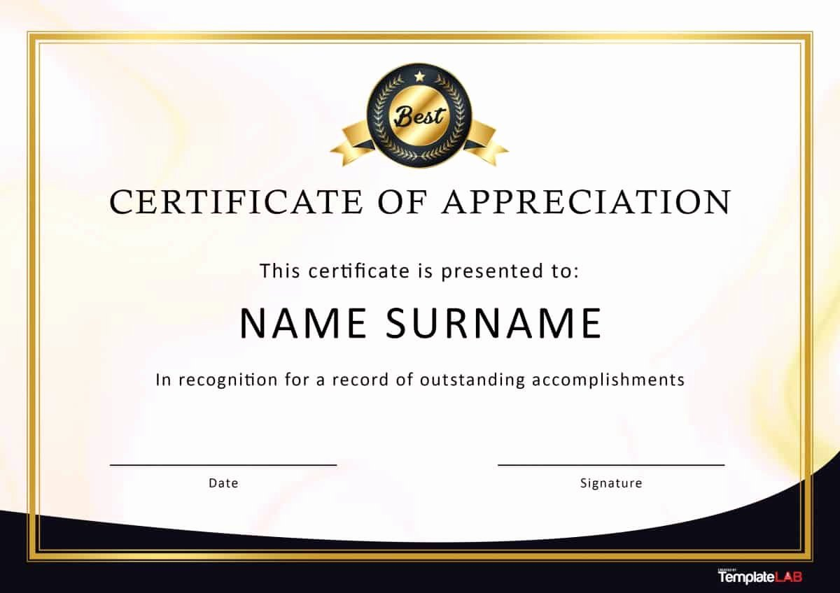 Plaque Templates Free Download Elegant 30 Free Certificate Of Appreciation Templates and Letters