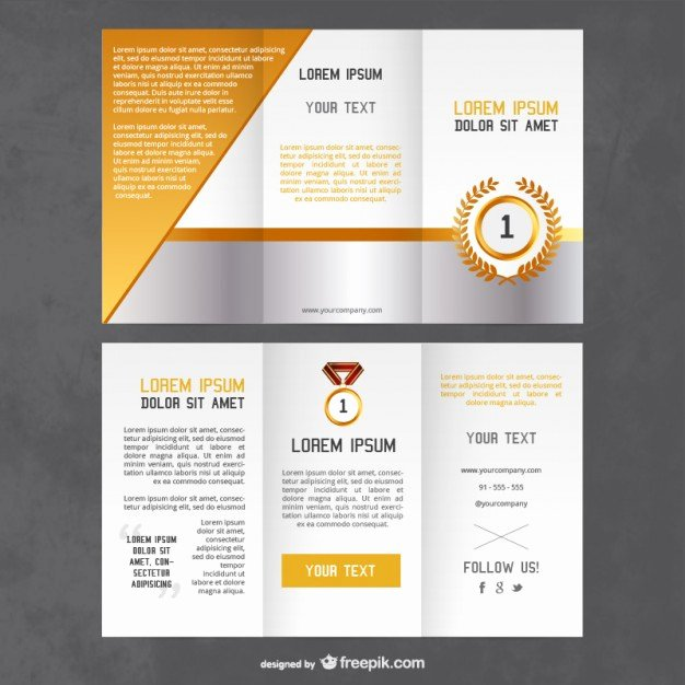 Plaque Templates Free Download New Awards Flyer Template Vector