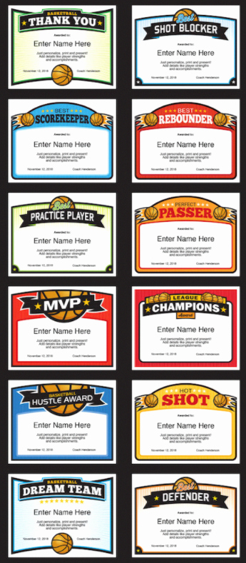 Player Of the Game Certificate Unique Elite Basketball Certificate Templates