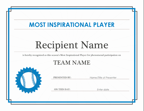 Player Of the Game Certificates Beautiful Certificate Of Participation Fice Templates