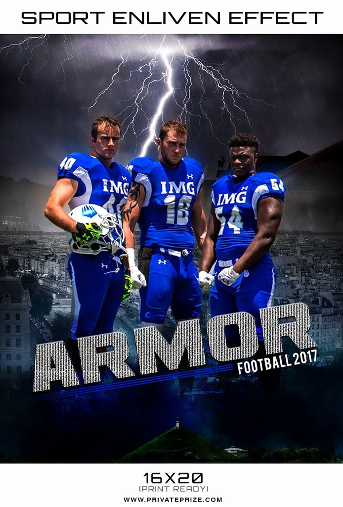 Player Of the Week Template Elegant Armor Football 2017 themed Sports Template