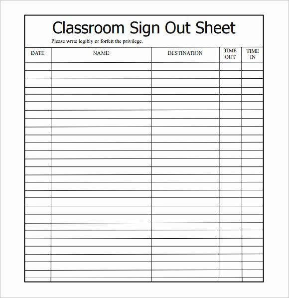 Please Sign In Sheet Inspirational Free 14 Sign Out Sheet Templates In Free Samples