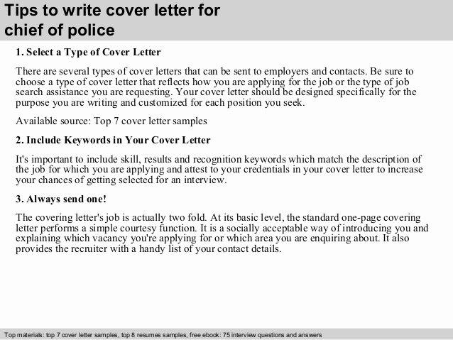 Police Chief Resume Awesome Chief Of Police Cover Letter