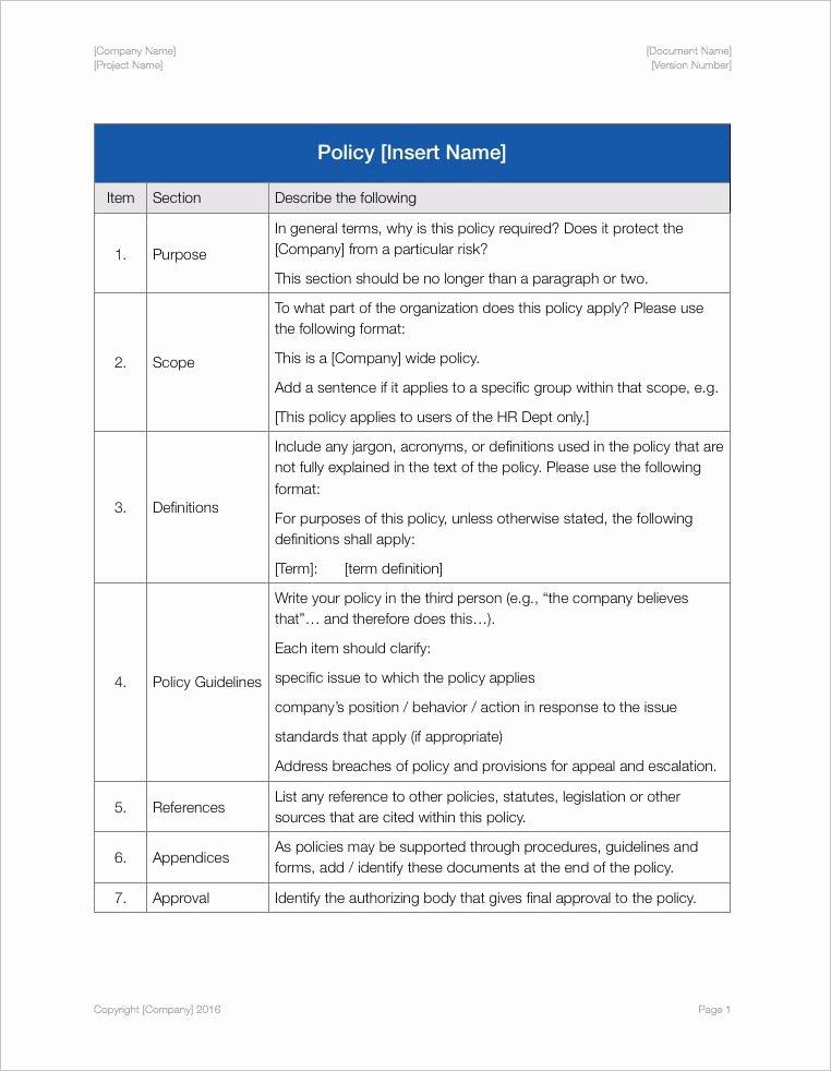 Policy Manual Sample Best Of Employee Handbook Apple Iwork Pages Numbers