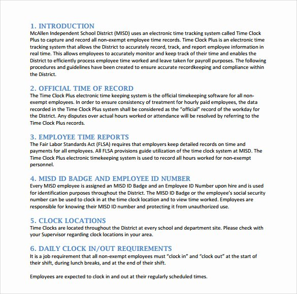 office procedures manual template free