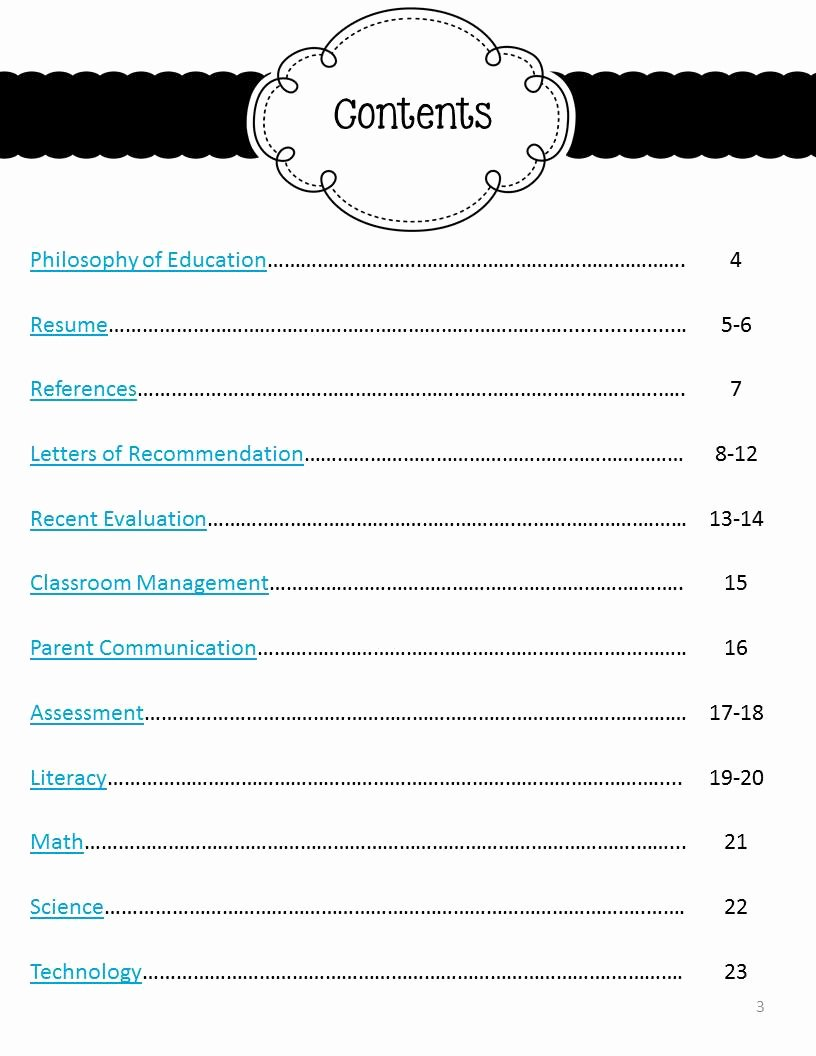 Portfolio Table Of Contents Template Inspirational My Job Hunt Journey Part Two the Mini Portfolio