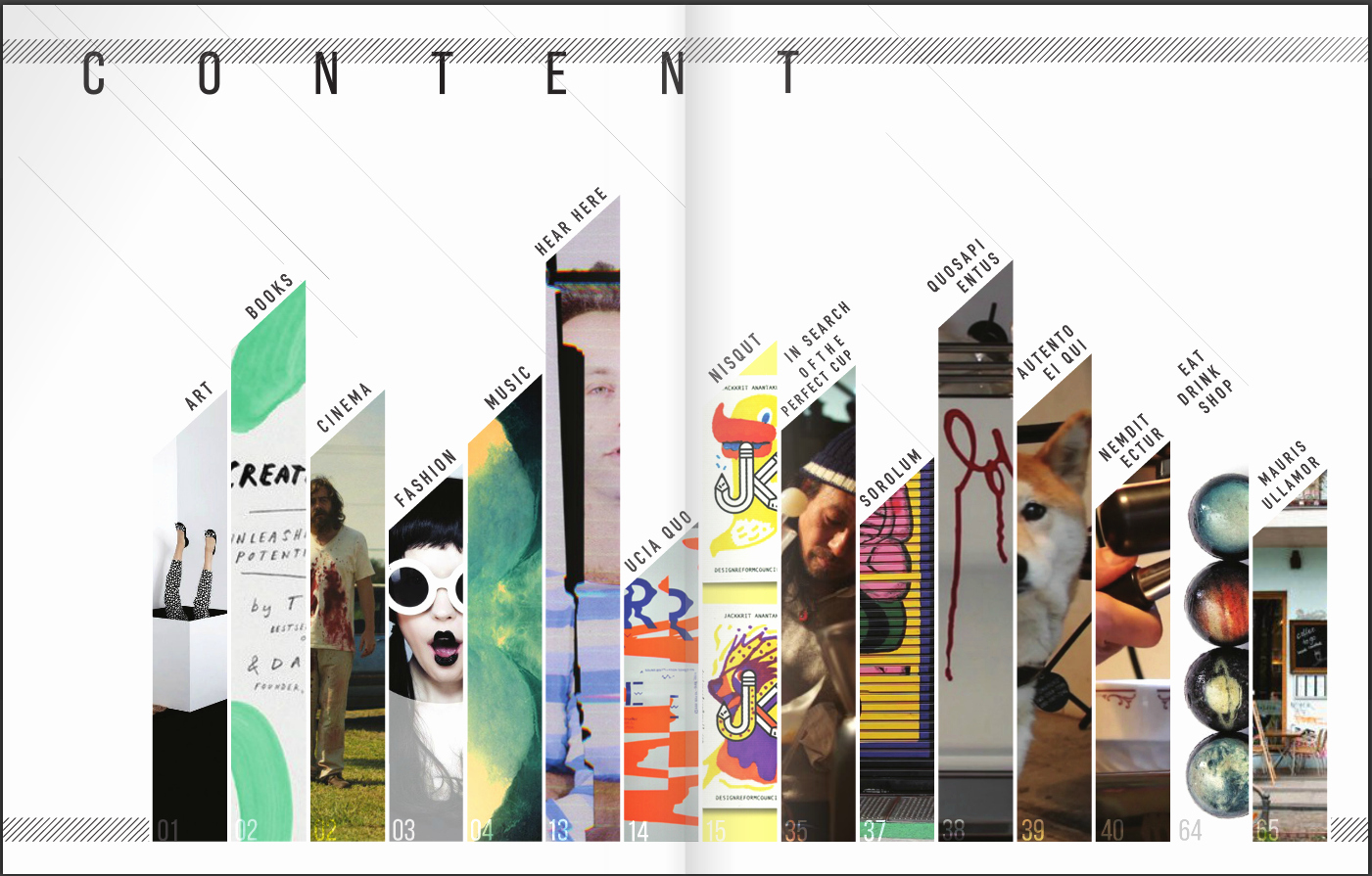 Portfolio Table Of Contents Template Luxury Design A Creative Table Of Contents Examples and
