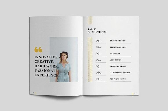 Portfolio Table Of Contents Template New Graphic Design Portfolio Table Of Contents Brochure