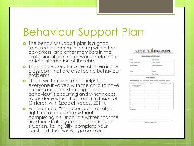 Positive Behavior Support Plan Example Lovely Meeting the Needs Of Children with Special Needs