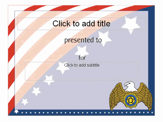 Powerpoint Award Certificate Template Beautiful Award Certificate American Flag Design