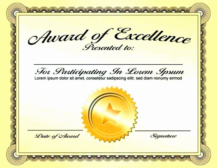 Powerpoint Award Certificate Template Beautiful Award Certificate Template Powerpoint Template Update234