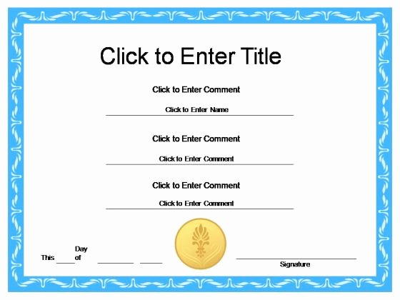 Powerpoint Award Certificate Template Lovely Award Certificate Template Powerpoint