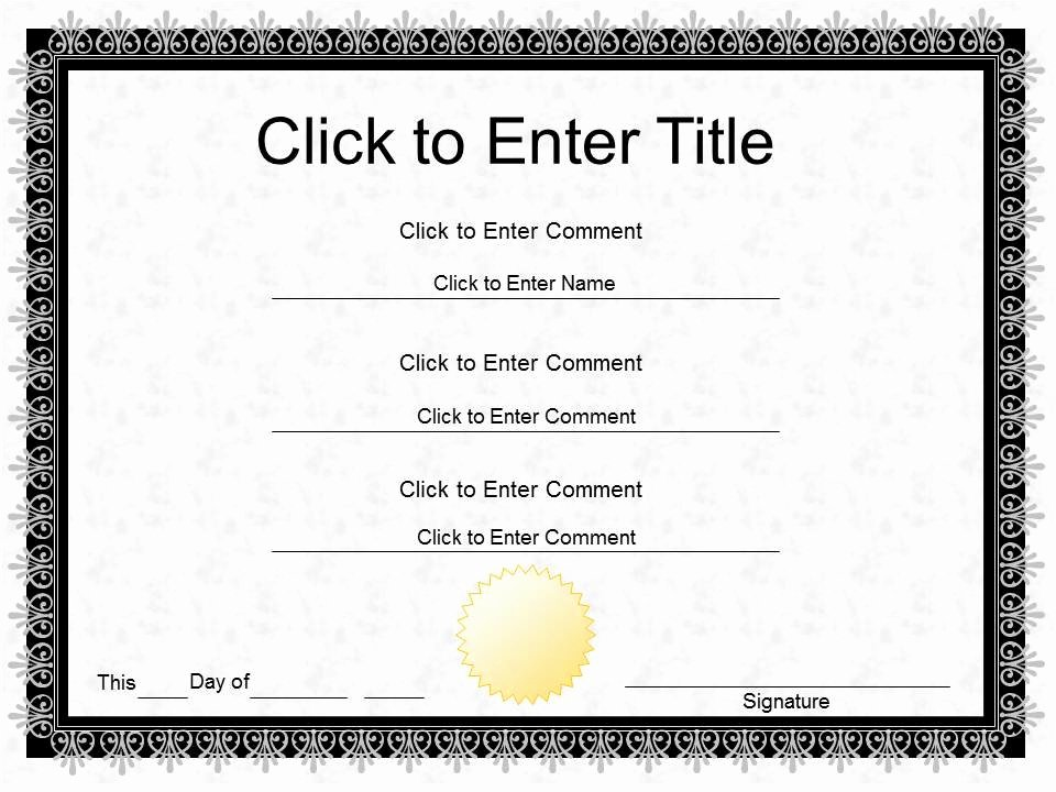 Powerpoint Award Certificate Template Lovely Free Word Certificate Of Pletion Template