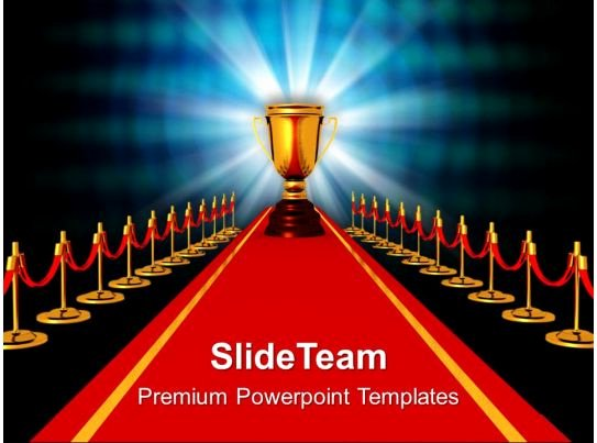 Powerpoint Award Certificate Template Luxury Award Red Carpet Petiton Powerpoint Templates Ppt