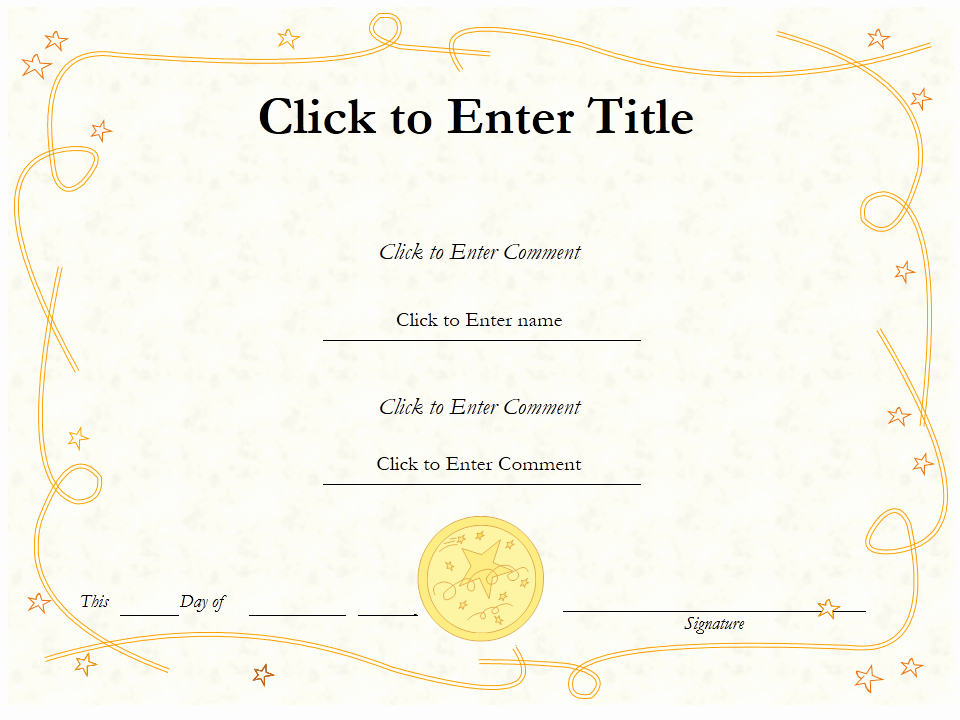 Powerpoint Award Certificate Template Luxury How to Create Certificate Achievement Templates In