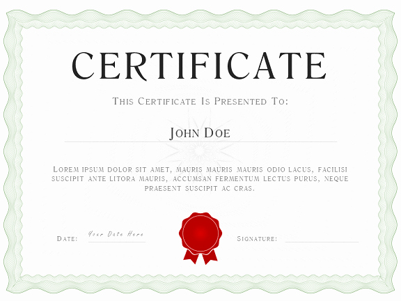Powerpoint Award Certificate Template Luxury Sage Green Powerpoint Certificate Diploma Template