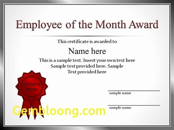 Powerpoint Award Certificate Template Unique Luxury 53 Employee Recognition Template Powerpoint Pptx