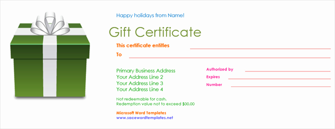 Powerpoint Gift Certificate Template New Get A Free Gift Certificate Template for Microsoft Fice