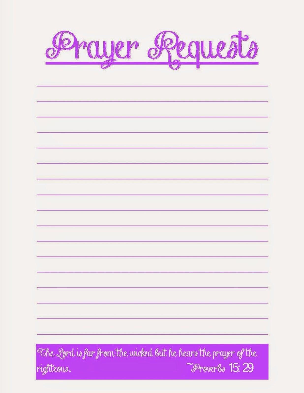 Prayer List Template Pdf Awesome Coffee Crafts & Cornfields Prayer Request Printables