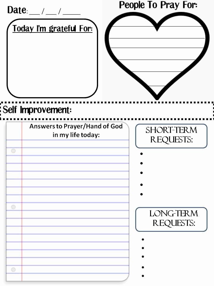 Prayer List Template Pdf Beautiful A Mother S Best Friend How to Do A Prayer Journal