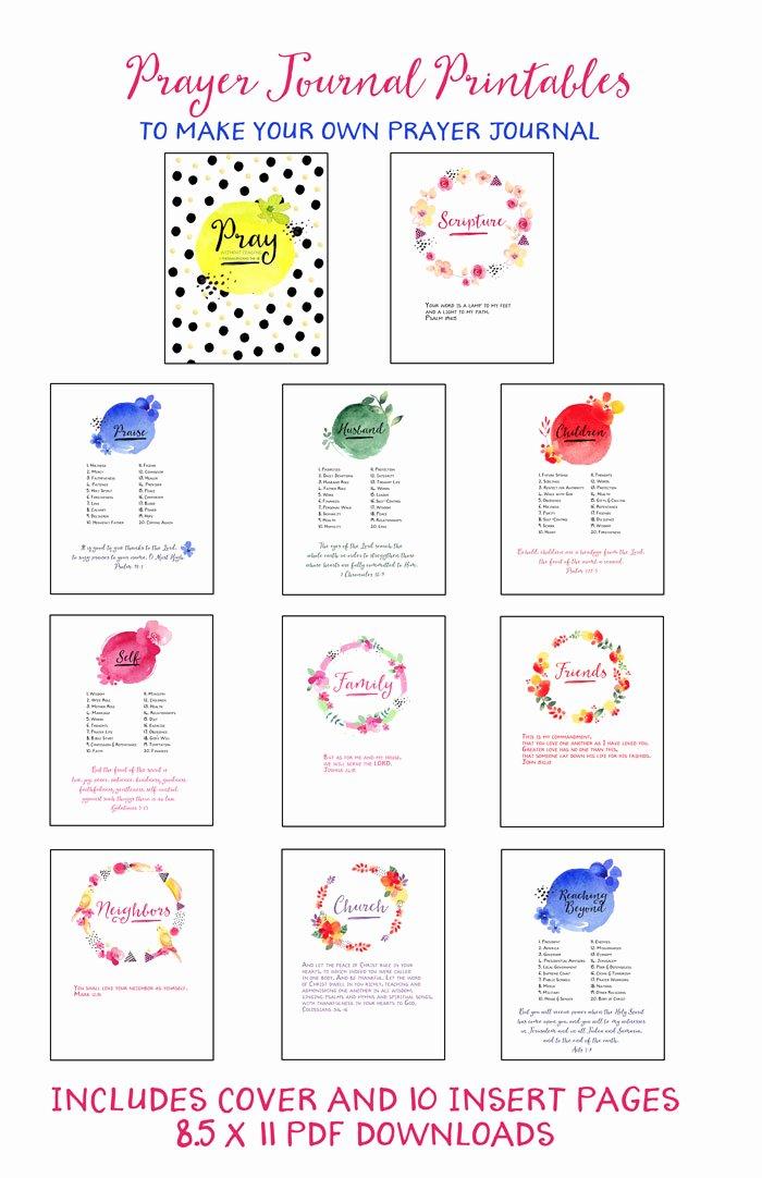 Prayer List Template Pdf Best Of Prayer Journal Printables Updated