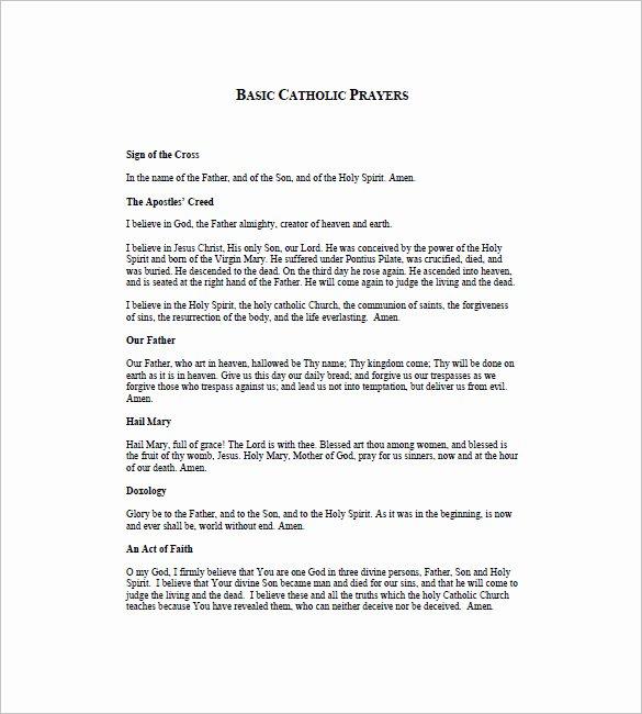 Prayer List Template Pdf Fresh Prayer List Template 8 Free Word Excel Pdf format
