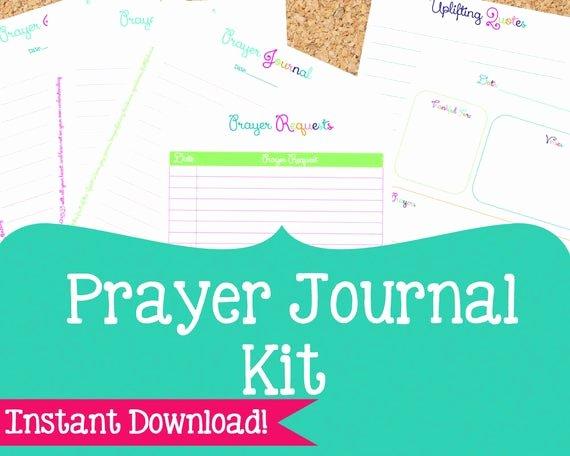Prayer List Template Pdf Lovely Prayer Journal Kit Prayer Printables 6 Pdf by organizedwhimsy