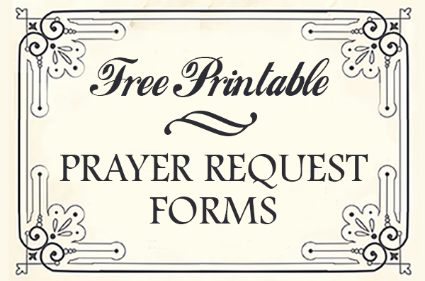 Prayer Request Card Template Awesome Free Printable Prayer Request forms Time Warp Wife