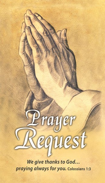 Prayer Request Card Template Lovely Pew Cards Prayer Request Pack Of 25