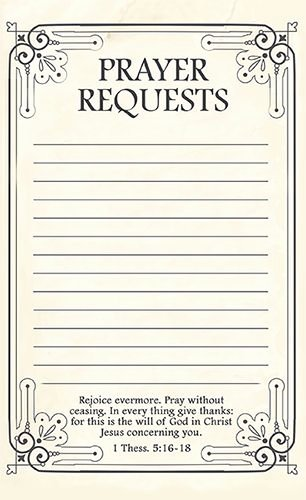 Prayer Request Card Template Luxury Free Printable Prayer Request forms