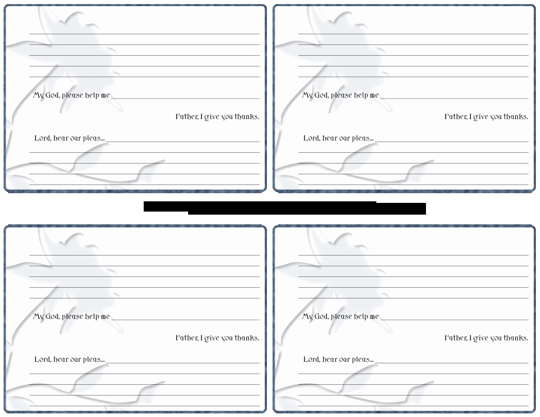 Prayer Request Card Template New 4 Best Of Printable Prayer Request Sheets Free