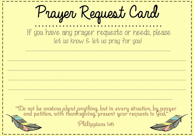 Prayer Request Cards Free Printables Elegant Prayer Request Card Idea Mops Pinterest
